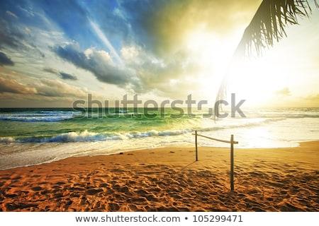 Tempestuoso mar pôr do sol hdr céu sol Foto stock © moses