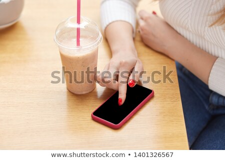 its time for a break woman enjoying coffee stock photo © stockyimages