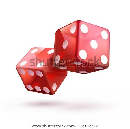 Gambling illustration with two red dice on shiny background. stock photo © articular