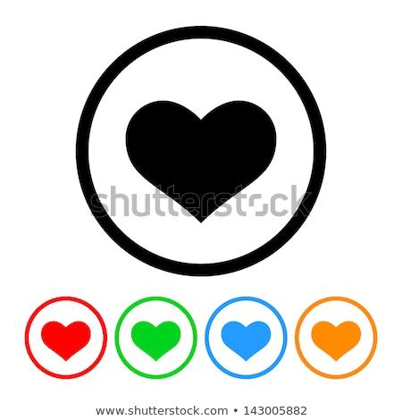 Streszczenie czerwony błyszczący serca ikona ślub Zdjęcia stock © pathakdesigner