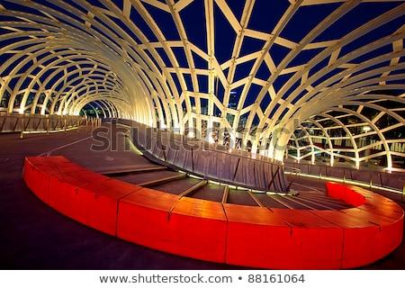 brug · voetganger · lopen · weg · groene · metaal - stockfoto © vividrange