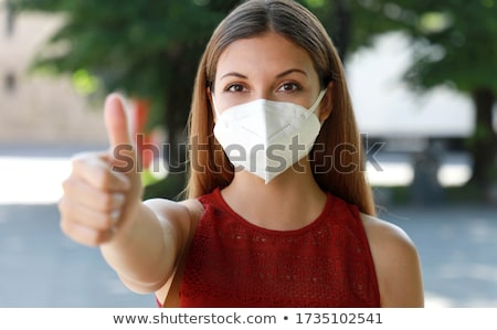two female students showing thumbs up stock photo © rob_stark