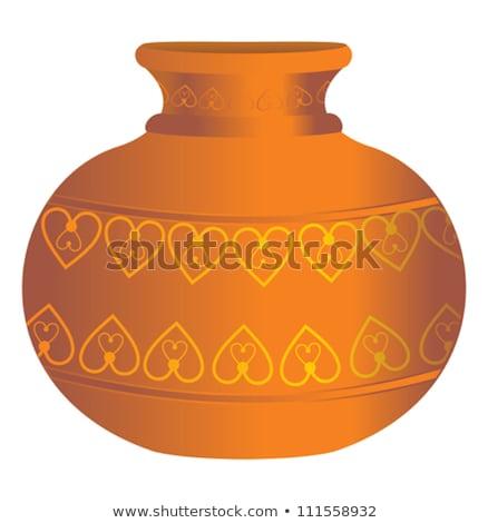 abstract soil water vases stock photo © pathakdesigner