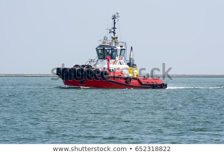 fumes from a river shannon tug boat Stock photo © morrbyte
