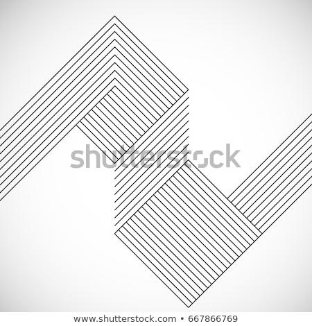 Abstract lijnen pleinen vector frame Stockfoto © antkevyv