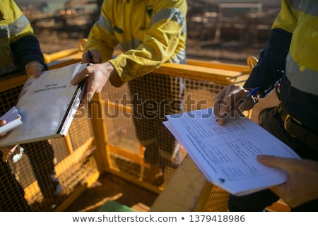 An engineer performing a check on a construction site Stock photo © photography33