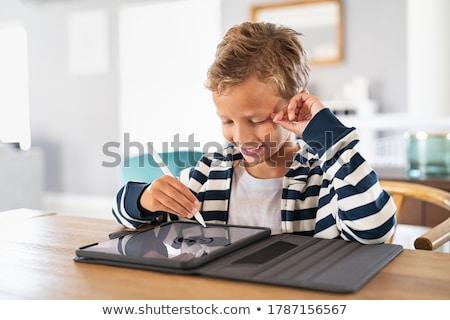 Stylus internet tabletta pálma felső okostelefon Stock fotó © claudiodivizia