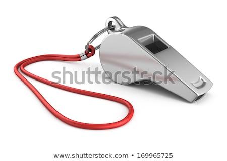 спортивных свистеть изолированный белый тренер Сток-фото © kitch