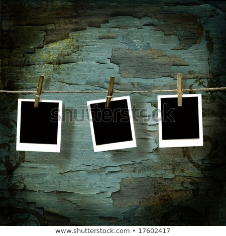 Instant camera pictures against old crackled backdrop Stock photo © Sandralise