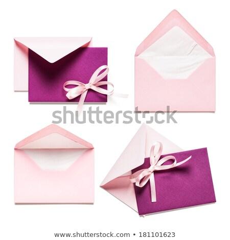 Сток-фото: Pink And Purple Envelopes