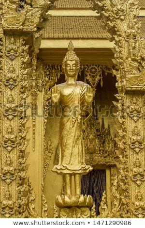 Buda heykel tapınak tarihsel park ağaç Stok fotoğraf © prajit48