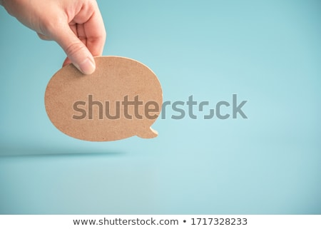 Speech ballon on wood background Stock photo © stevanovicigor