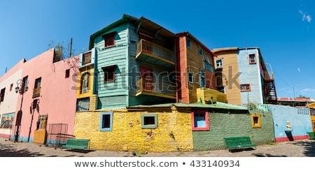 装飾 · ラ · カラフル · ブエノスアイレス · 光 · 緑 - ストックフォト © jkraft5