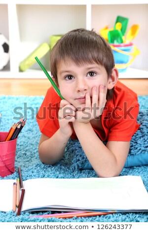 Erkek sanatçı çizim kalemler stüdyo Stok fotoğraf © SLP_London