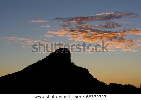 La Roche de Solutre at dawn, Burgundy, France Stock photo © phbcz