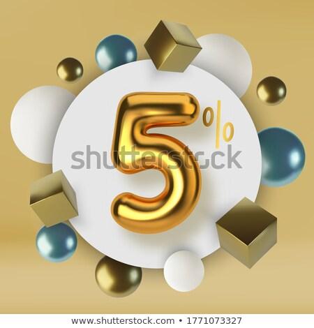 five golden spheres stock photo © silense