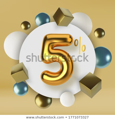 Cinquième or sphères blanche spirale escalier Photo stock © silense