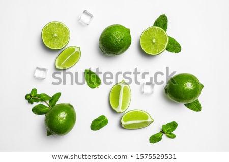 citroen · vruchten · balsem · kruid · blad · geïsoleerd - stockfoto © tetkoren
