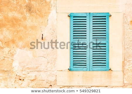 Window With Closed Green Shutters Front Stock photo © albund