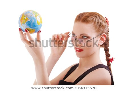 verde · terra · globo · mulher · mãos · borboleta - foto stock © photography33