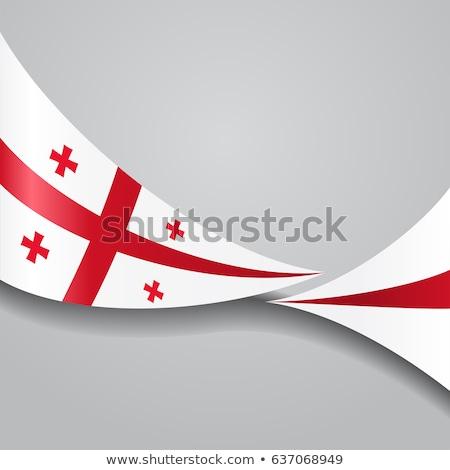 Ribbon banner - georgian flag Stock photo © StockwerkDK