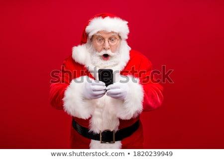 Portré boldog mikulás ötlet izolált fehér Stock fotó © HASLOO