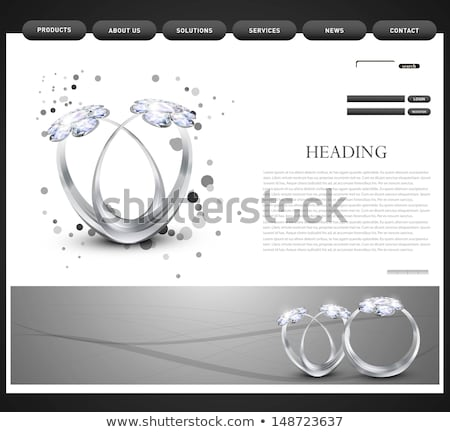 Weboldal sablon bemutató gyémántgyűrű vektor terv Stock fotó © bharat