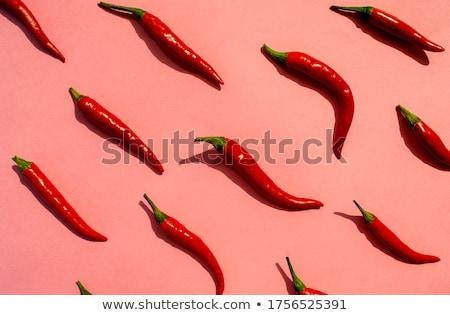 pequeño · rojo · plato · caliente · frescos - foto stock © raphotos