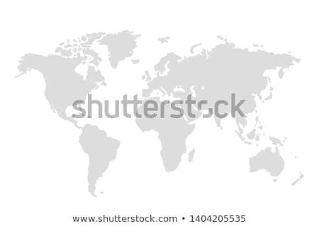 Grijs wereldkaart illustratie geïsoleerd witte kaart Stockfoto © cidepix