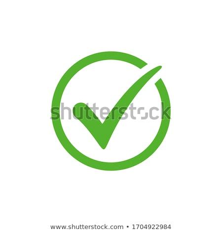 zöld · elismert · felirat · absztrakt · vektor · kereszt - stock fotó © burakowski