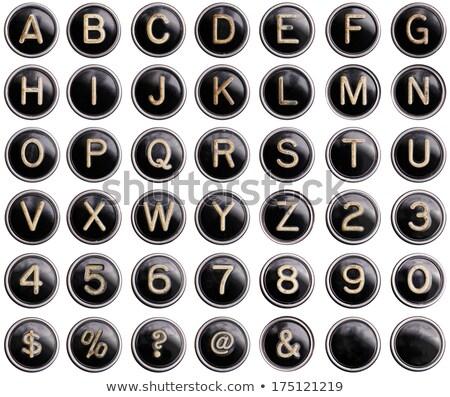 öreg · írógép · rendkívüli · hírek · papír · hírek · levél - stock fotó © tashatuvango
