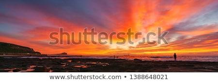 Newcastle tengerpart Ausztrália második város városi Stock fotó © jeayesy