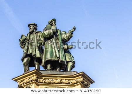 statue of Johannes Gutenberg, inventor of book printing with sky Stock photo © meinzahn