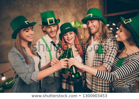 Red hair girl in Saint Patrick's Day party hat Stock photo © mrakor