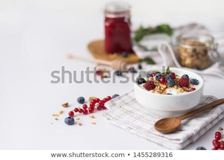bes · melk · room · dieet · gezonde - stockfoto © M-studio
