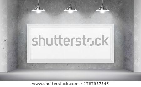 квадратный Живопись подвесной художественная галерея стены белый Сток-фото © stevanovicigor