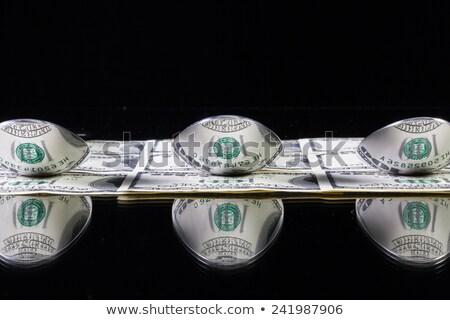 нержавеющая сталь деньги доллара обеда Сток-фото © CaptureLight