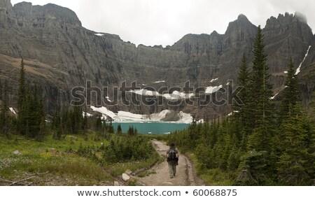 sombras · lago · belo · alto · montanhas - foto stock © searagen