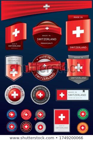 Foto stock: Suíça · vermelho · isolado · branco