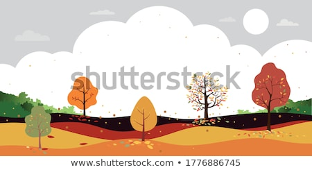 Autumn fallen leaves in a park Stock photo © bmonteny