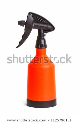 Laranja plástico água borrifador líquido casa Foto stock © stevanovicigor
