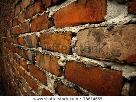 close up texture of yellow-brown rough brick wall Stock photo © yanukit