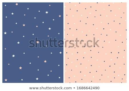 Dark blue fabric with white stars Stock photo © Zerbor