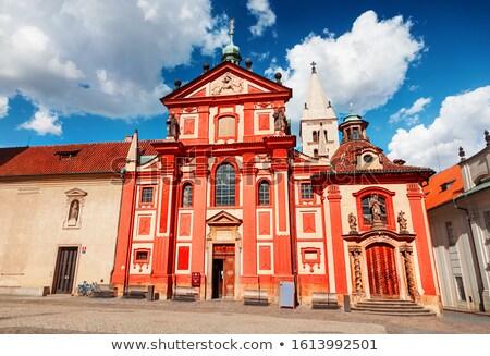 Saint George Square with Basilica in Prague Stock photo © stevanovicigor