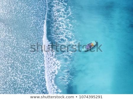 swimming in beautiful blue sea stock photo © anna_om