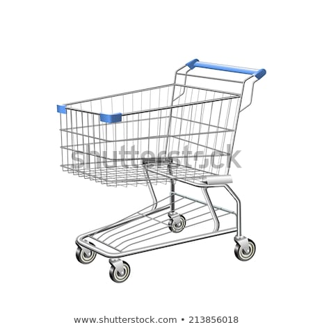 Stock photo: 3 shopping carts