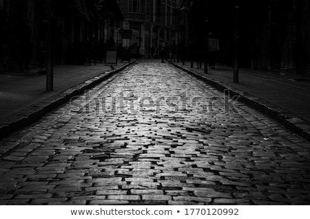 abstract · oude · trottoir · textuur - stockfoto © zhekos