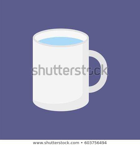 Simples caneca de café ilustração projeto fundo beber Foto stock © alexmillos
