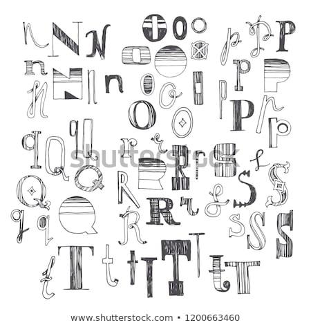 Drie verschillend compleet doodle illustratie inkt Stockfoto © Anna_leni