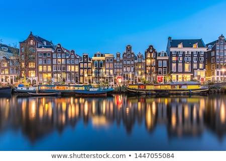 Canal Amsterdam noche verano cielo agua Foto stock © mady70